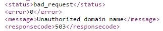 api bad request